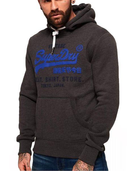 Superdry Sweat Shop Duo Hooded Sweatshirts Winter Charcoal