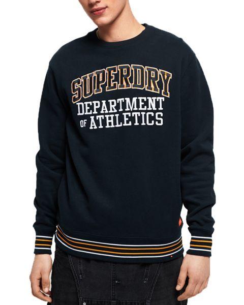Superdry College Boxy Fit Sweatshirt Navy | Jean Scene