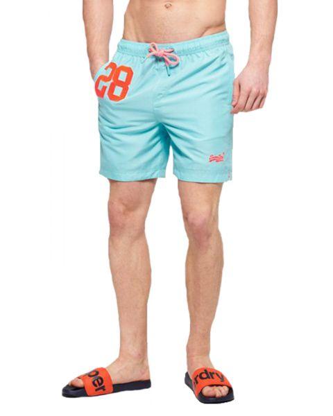 Superdry Water Polo Men's Shorts Light Lagoon Blue   Jean Scene