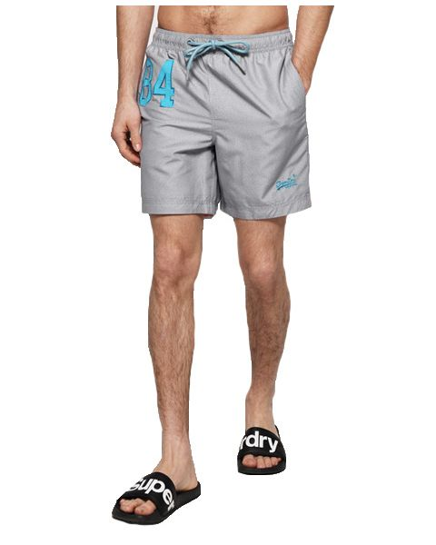 Superdry Water Polo Men's Shorts Platinum Grit   Jean Scene
