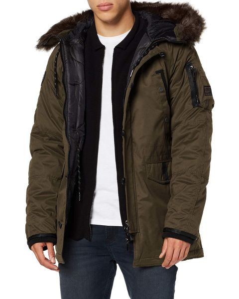 Superdry SDX Parka Padded Jacket Khaki