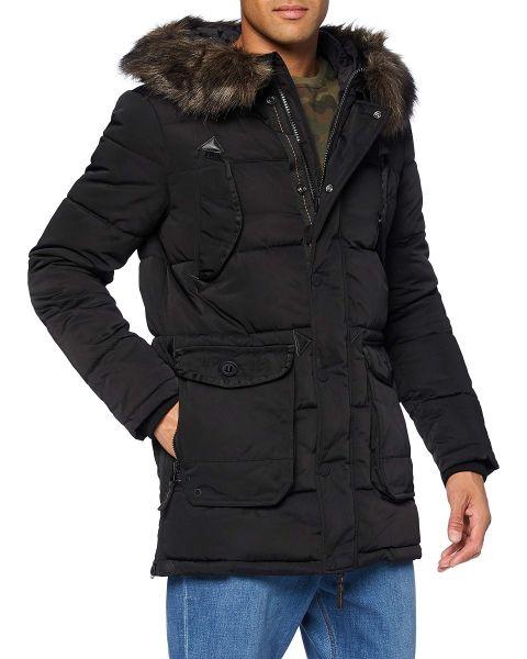 Superdry Winter Chinook Men's Jacket Black   Jean Scene