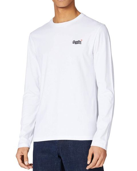 Superdry Orange Label Embroided Long Sleeve Top Optic