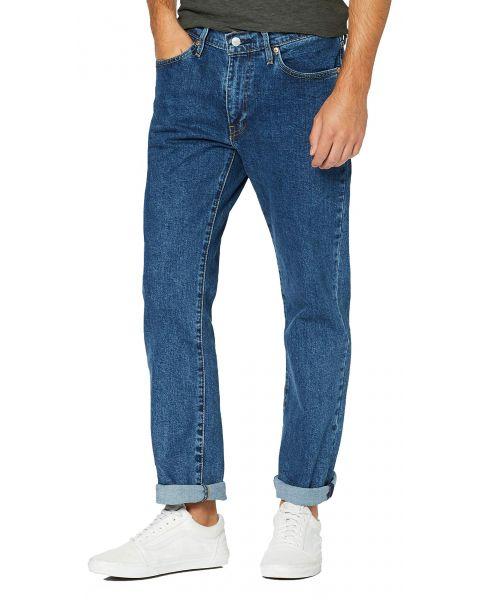 Levis 514 Denim Jeans Dark Blue Stonewash Blue | Jean Scene