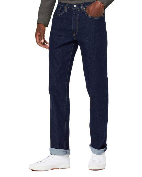 Levis 514 Denim Jeans Dark Blue Chain Rinse Blue | Jean Scene