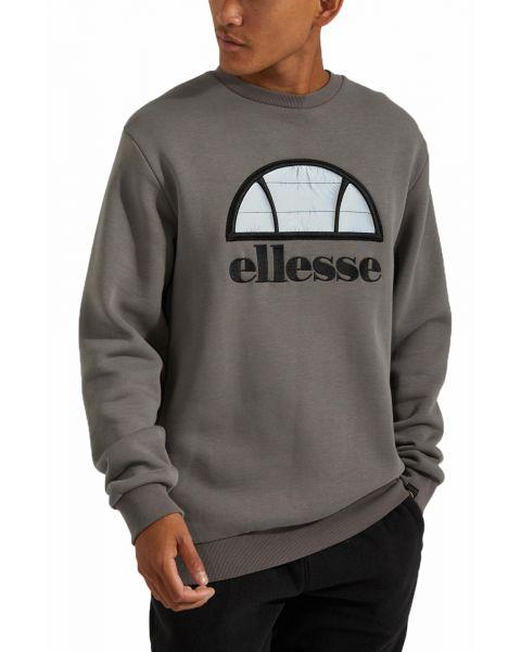 Ellesse Men's Manto Logo Crew Neck Sweatshirt Dark Grey | Jean Scene