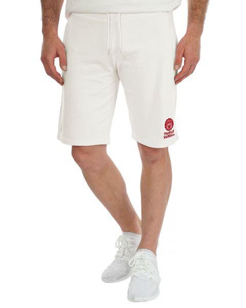 Franklin & Marshall Men's Fleece Logo Jogging Shorts Milk   Jean Scene