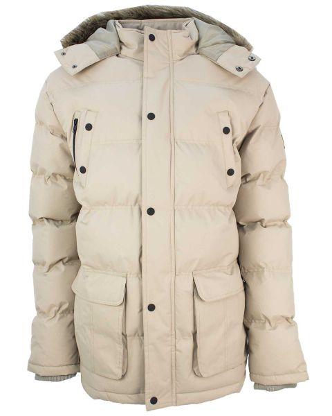 Soul Star Winter Padded Puffer Jacket Beige | Jean Scene