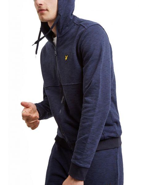 Lyle & Scott Zip Through Men's Hooded Sweatshirt Navy | Jean Scene