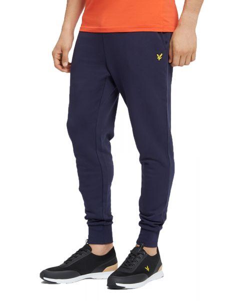 Lyle & Scott Men's Skinny Logo Jogging Bottoms Navy | Jean Scene