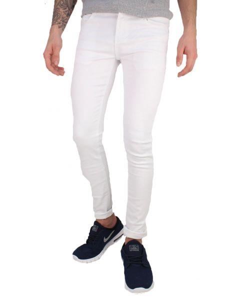 Soul Star Slim Tapered Skinny Fit White Denim Jeans | Jean Scene