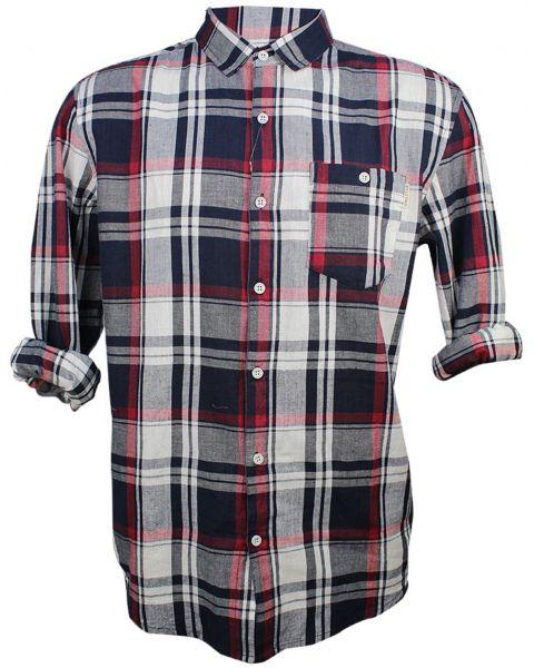 Soulstar Casual Check Shirt Long Sleeve Red   Jean Scene