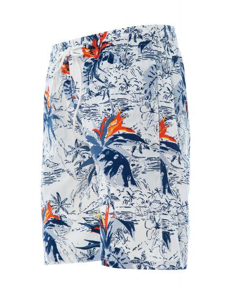 Soulstar Print Hawaiian Bravo Shorts White   Jean Scene