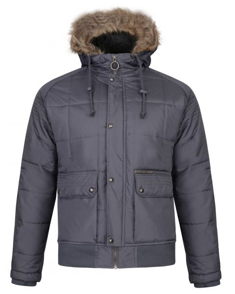 Ringspun Winter Padded Jacket Charcoal | Jean Scene