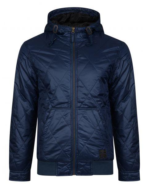 Ringspun Krarup Short Hooded Jacket Navy | Jean Scene