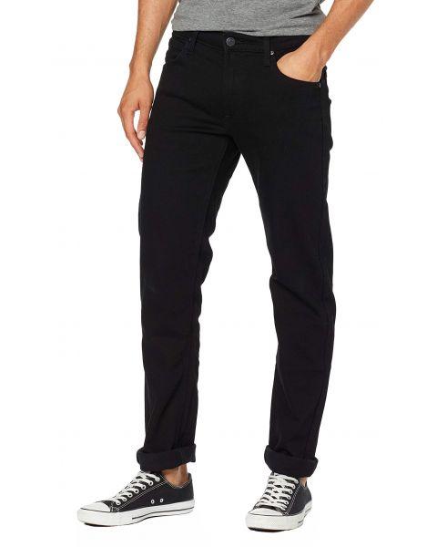 Lee Daren Zip Regular Slim Black Rinse Denim Jeans | Jean Scene