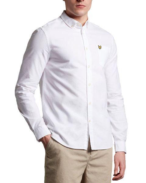 Lyle & Scott Oxford Shirt Long Sleeve White | Jean Scene