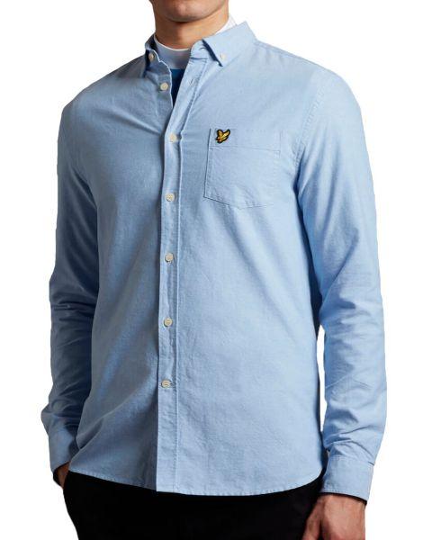 Lyle & Scott Oxford Shirt Long Sleeve Riviera | Jean Scene