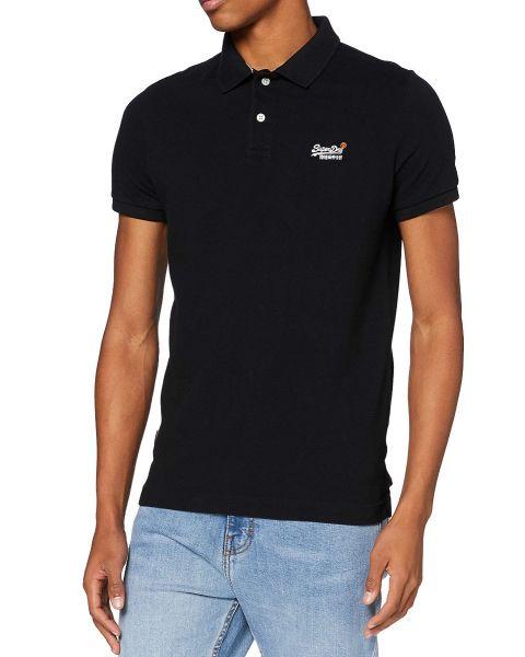 Superdry Classic Pique Polo Shirt Black