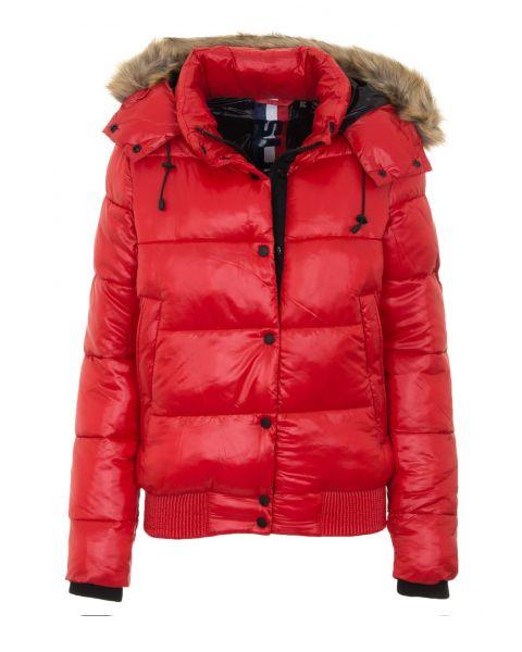 Superdry Jacket Rouge Red   Jean Scene
