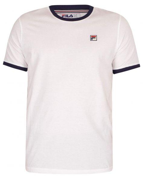 Fila Mens Logo T-Shirt Short Sleeve White/Peacoat | Jean Scene
