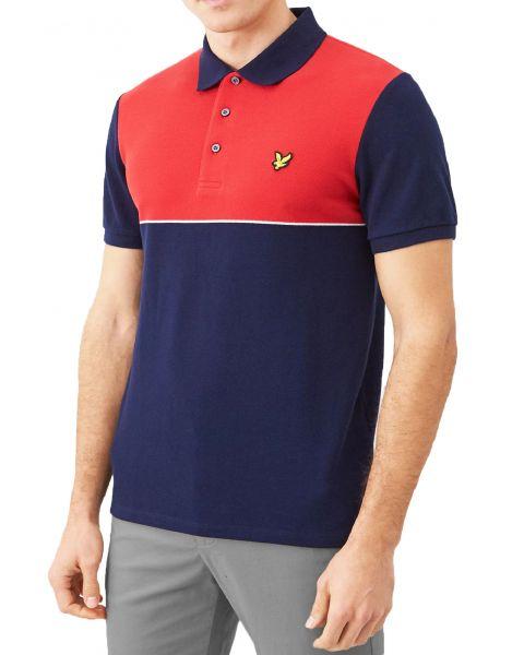 Lyle & Scott Polo Pique Polo Shirt Gala Red/Navy | Jean Scene