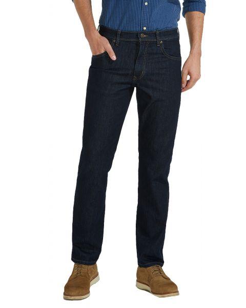 Wrangler Durable Stretch Denim Jeans Rinsewash Blue | Men's Wrangler Jeans | Jean Scene