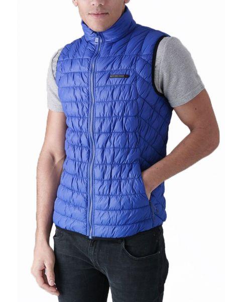 Duck and Cover Men's Norris Quilt Fashion Gilet Bodywarmer Ultra Marine | Jean Scene