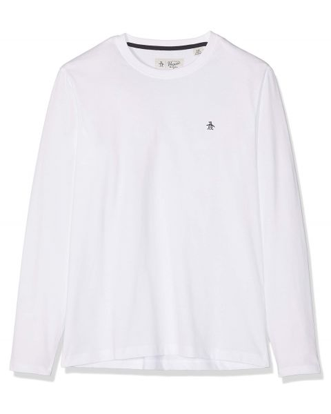 Original Penguin Pin Point Long Sleeve Top Bright White