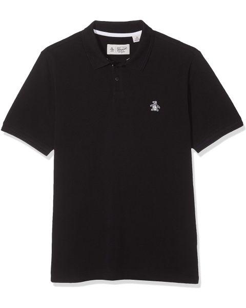 Original Penguin Raised Rib Short Sleeve Polo Shirt True Black