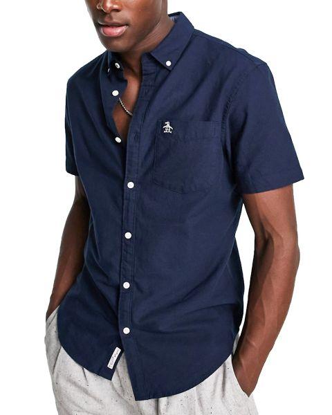 Original Penguin Core Oxford Short Sleeve Shirt Dark Sapphire
