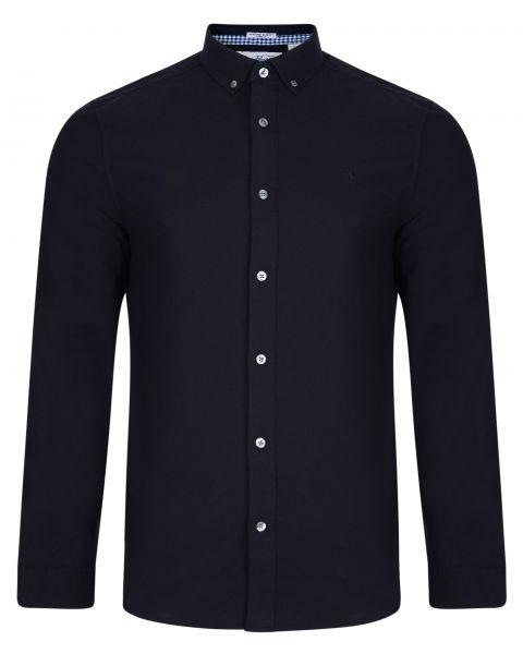 Original Penguin Oxford Shirt Long Sleeve Dark Sapphire   Jean Scene