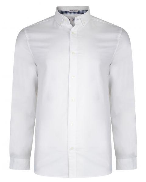 Original Penguin Oxford Shirt Long Sleeve Bright White   Jean Scene