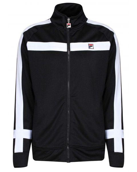 Fila Men's Renzo Block Track Jacket Black/White | Jean Scene