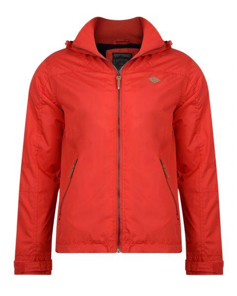 Lee Cooper Men's Hooded Fleece Lined Jacket Red | Jean Scene