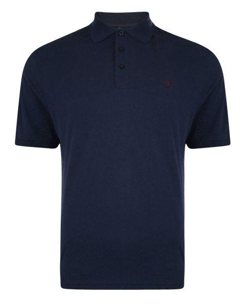 Farah Polo Pique T-Shirt Navy Blue   Jean Scene