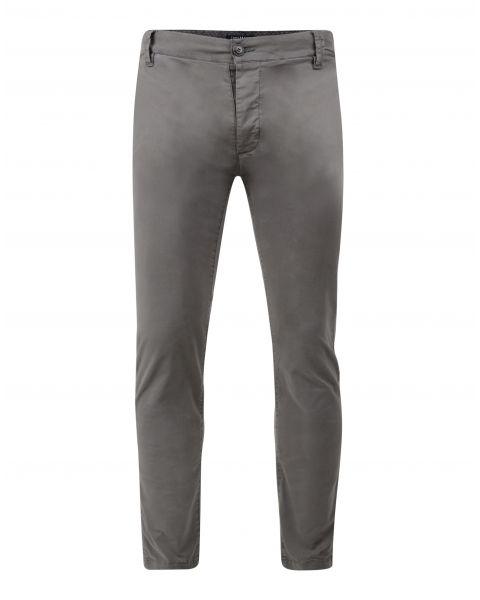 Threadbare Saloon Slim Fit Cotton Chinos Grey Grey | Jean Scene