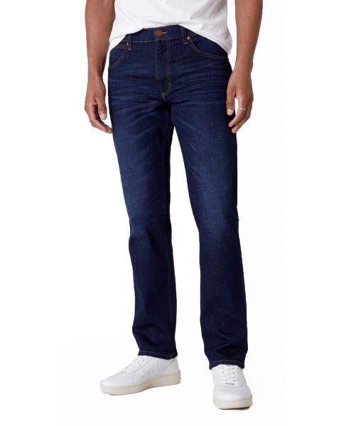 Wrangler Greensboro Modern Straight Denim Jeans Dark Fever | Jean Scene
