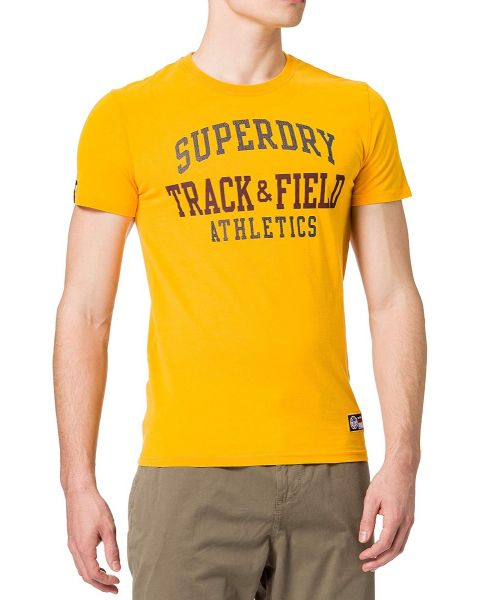 Superdry Track & Field Graphic Crew Neck T-Shirt Utah Gold