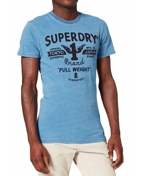 Superdry Vintage Crew Neck T-Shirt Indigo
