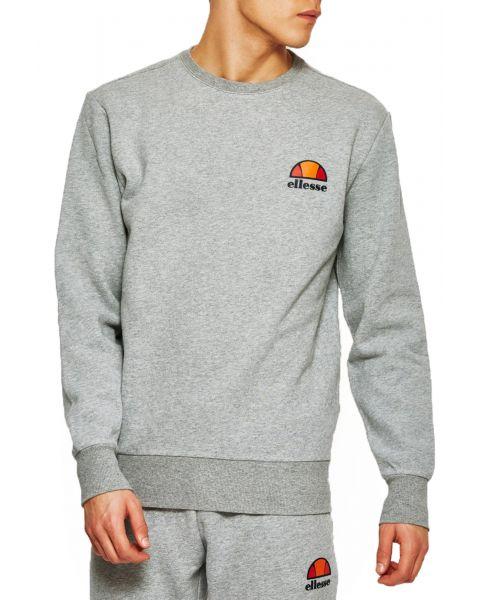 Ellesse Men's Diveria Logo Crew Neck Sweatshirt Grey Marl | Jean Scene