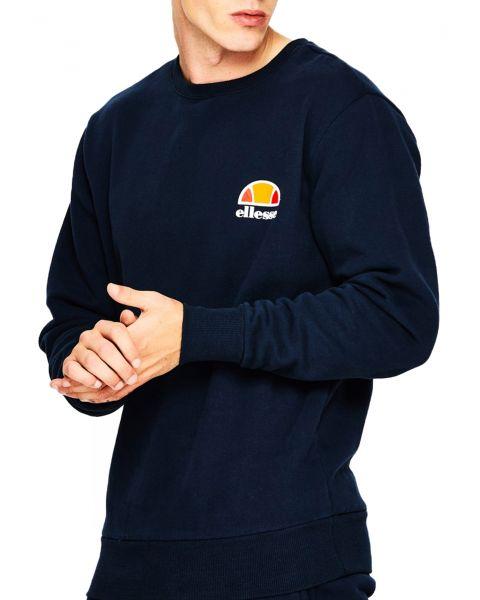 Ellesse Men's Diveria Logo Crew Neck Sweatshirt Navy | Jean Scene