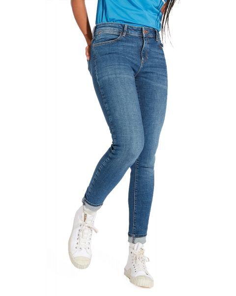 Wrangler Women's Skinny Stretch Jeans Blue Rise | Jean Scene