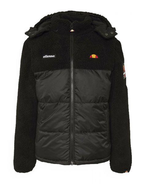 Ellesse Mens Sparra Padded Fleece Jacket Black | Jean Scene