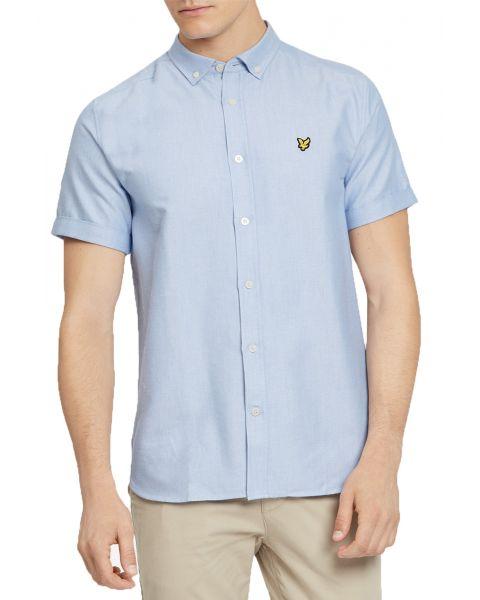 Lyle & Scott Oxford Shirt Short Sleeve Riviera | Jean Scene