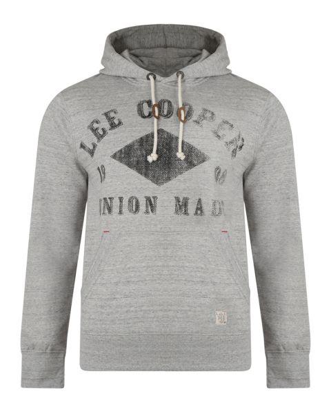 Lee Cooper Overhead Men's Tadworth Hoodie Dove Marl | Jean Scene