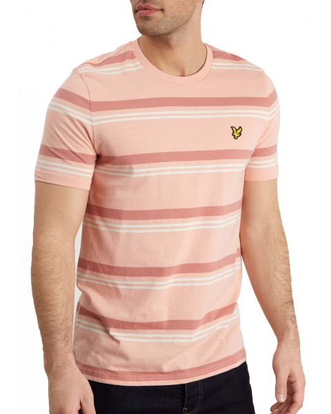 Lyle & Scott Crew Neck Short Sleeve T-Shirt Coral Way | Jean Scene