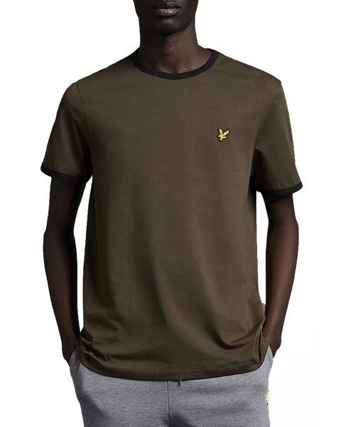 Lyle & Scott Ringer Crew Neck T-Shirt Olive/Jet
