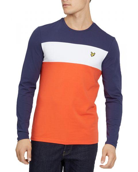 Lyle & Scott Crew Neck Long Sleeve T-Shirt Paprika | Jean Scene