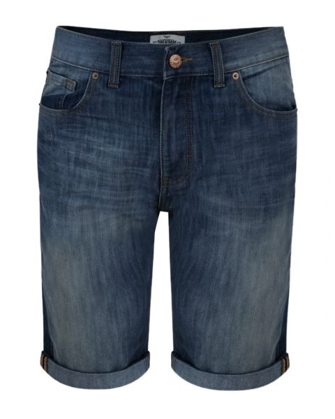 Threadbare Men's Slim Fit Denim Jean Shorts Dark Wash Blue   Jean Scene